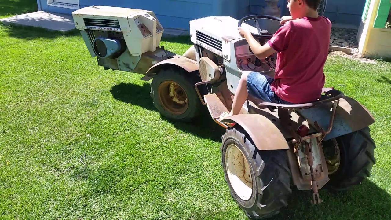 Sears Ss12 Garden Tractor : Sears ss super tandem garden tractor youtube