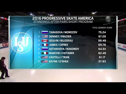 2016 Skate America - Pairs FS Full Broadcast Universal HD