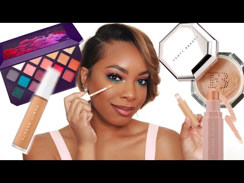 OVERRATED OR WORTH THE HYPE? | FULL FACE OF FENTY BEAUTY FT. NEW FENTY CONCEALERS & SETTING POWDERS!
