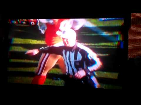 Pierre Thomas gets knocked out and fumbles