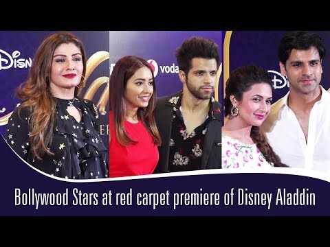 Bollywood Stars at red carpet premiere of Disney Aladdin