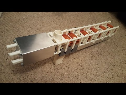 Mk4 Coil Gun - 6-Stage, 3D Printed - 780 Rounds Per Minute