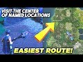 Fortnite - Fastest route to visit centre of Named Locations