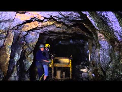 Working underground in Cornwall , in a mine ( 1 )