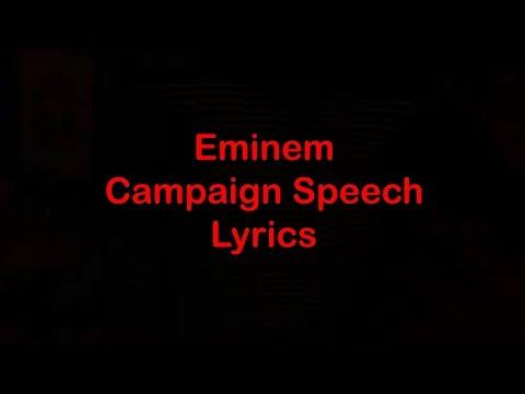 Eminem  - Campaign Speech [Lyrics]
