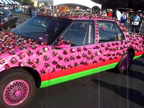 hot pink art car at maker faire youtube. Black Bedroom Furniture Sets. Home Design Ideas