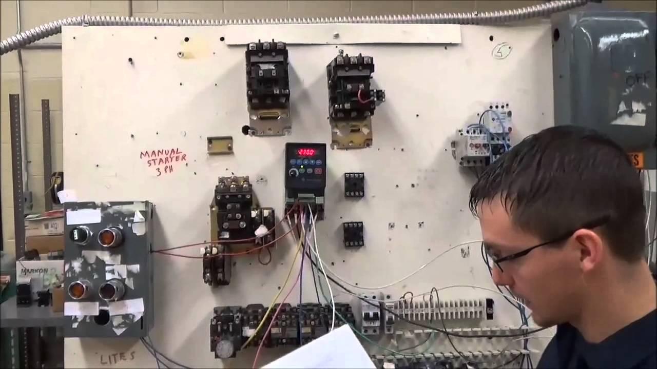 Allen Bradley Plc Controlling A Vfd Youtube Motor Starter Wiring Diagram