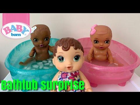 Abby New Baby Born Surprise Bathtub Surprise