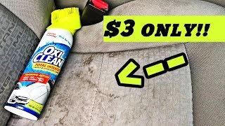 HOW to Clean STAINED Dirty Car Seats [2019]
