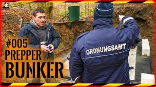 GEHEIMBUNKER #005 | Ordnungsamt legt Baustelle still?! | Steine mauern | Baustopp | Survival Mattin