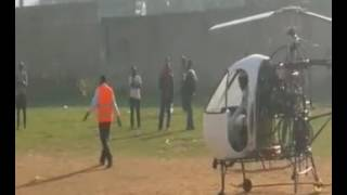 Ugandan home made helicopter