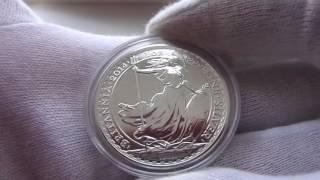 Серебряная монета Британия.