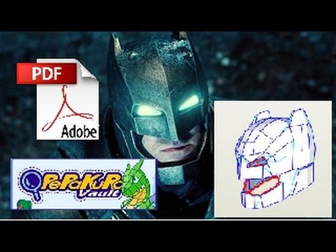 (Pepakura PDF) Batman v Superman Batman casco armadura Paper y Foam +  archivo PDO original