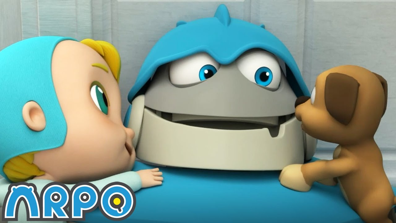 Arpo the Robot   PUPPY PANIC!!!   Funny Cartoons for Kids   Arpo and Daniel
