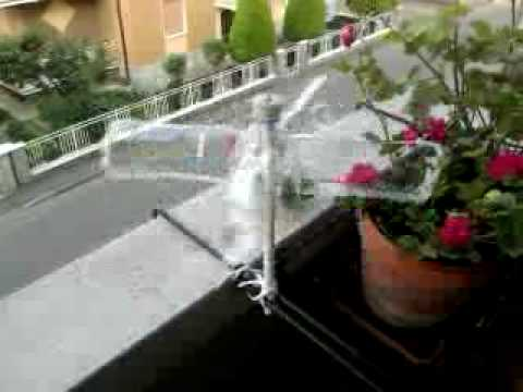 turbina eolica fai da te sul balcone - YouTube