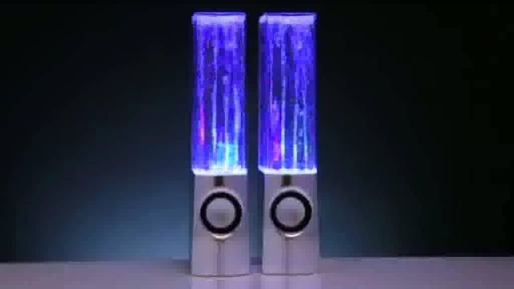 Illuminated Dancing Water Speakers Youtube
