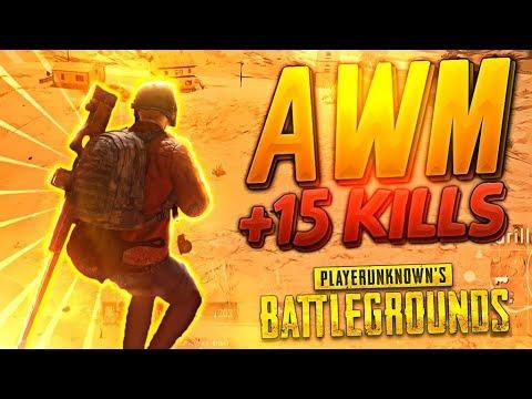 SNIPER AWM +15 KILLS ¡VAYA MOCHAS! | PLAYERUNKNOWN'S BATTLEGROUNDS (PUBG)
