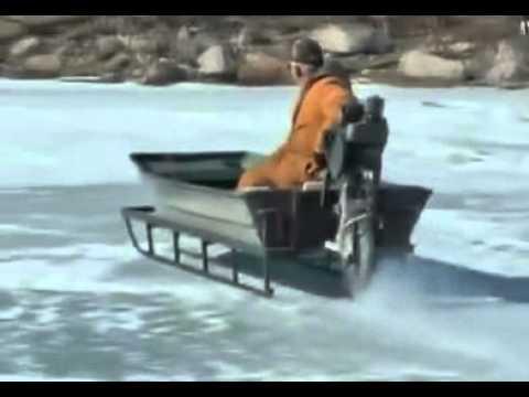 Best ever viral ice sled antique mode of transportation is for Ice scratcher boat motor for sale