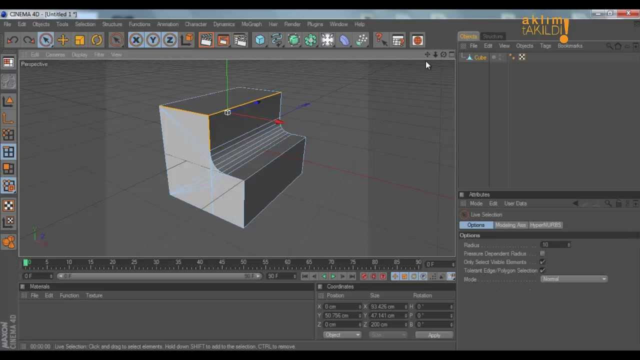 Cinema 4D Fillet , Radius & Bevel