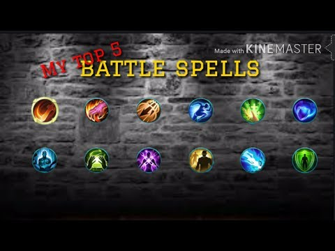 My Top 5 battle spells /Mobile legends - YouTube