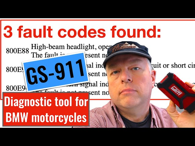Trip saving GS-911 diagnostic tool for BMW motorcycles.
