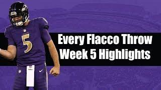 Every Joe Flacco Throw Against Raiders| Baltimore Ravens Week 5 Highlights
