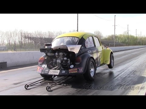 "400hp! Turbo VW Beetle at the Strip│Simpson Racing Engines ""Killa Bee"""