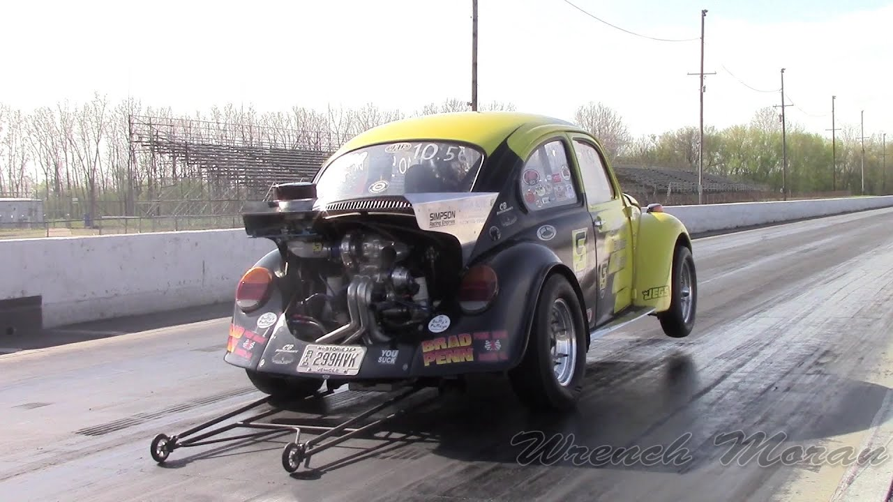400hp! Turbo VW Beetle at the Strip│Simpson Racing Engines
