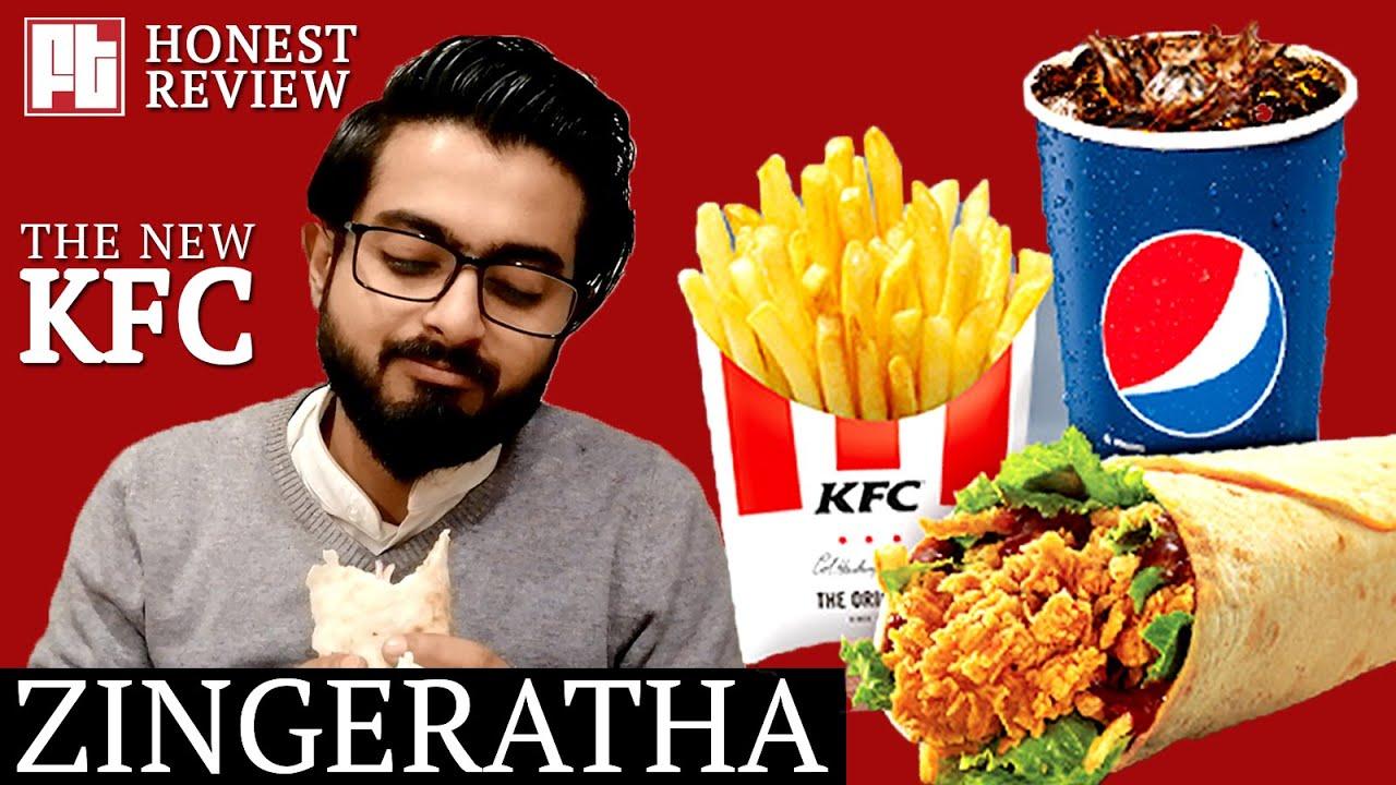 KFC Zingeratha Honest Review | KFC's Zinger Paratha Roll ...
