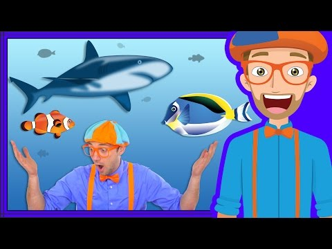 Thumbnail: At an Aquarium with Blippi | Fish for Kids