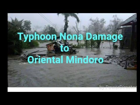 Typhoon Nona Damage to Oriental Mindoro