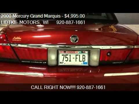 2000 Mercury Grand Marquis Ls For Sale In Beaver Dam Wi