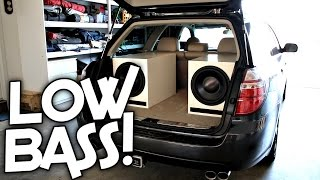 TRYING MY NEW SUBWOOFERS IN MY CAR!