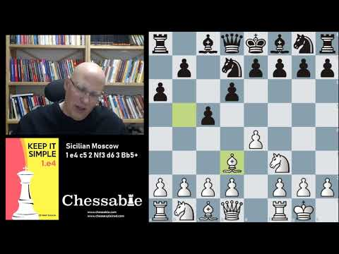 Sicilian Moscow 1 e4 c5 2 Nf3 d6 3 Bb5+ FREE PREVIEW