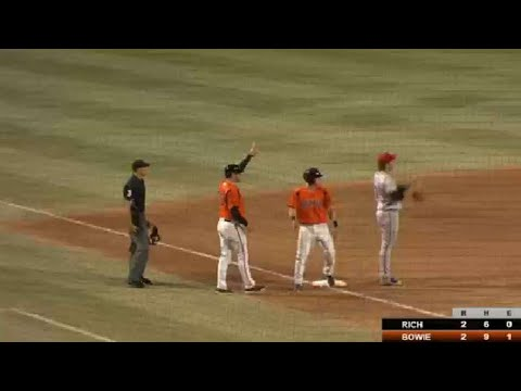 Austin Hays motors around the basepaths for a triple