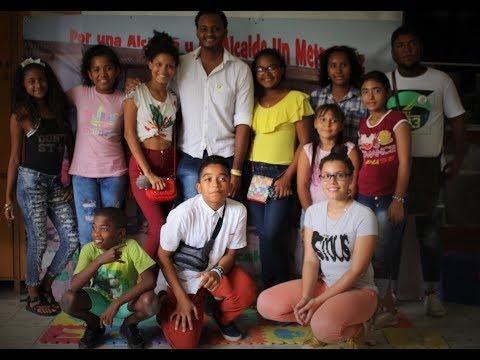Armando Córdoba, candidato a la Alcaldía de Cartagena Un Metro Diez, a la altura de la niñez