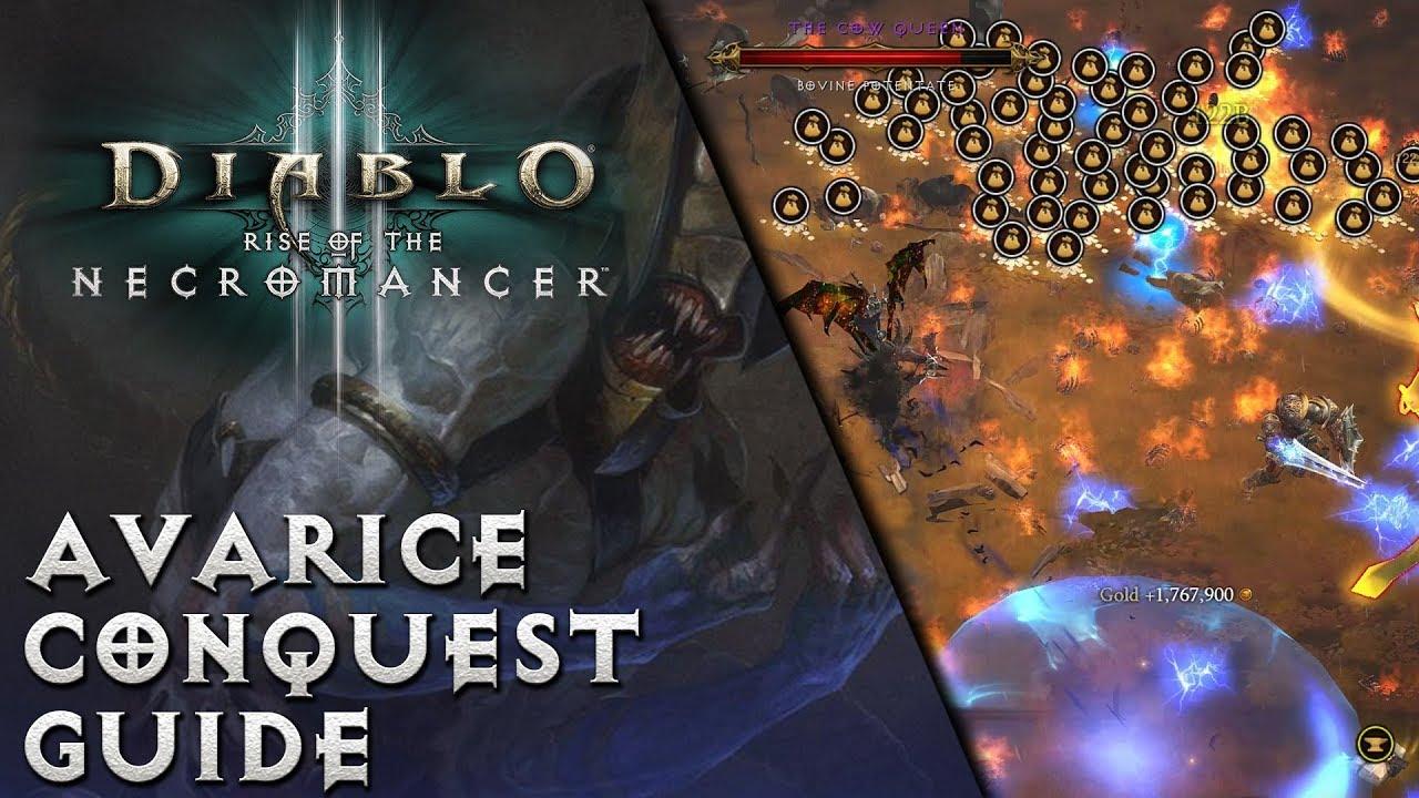 Diablo 3 - Avarice / Avarita Conquest Guide