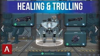 HEALING and TROLLING Mender MK2 Gameplay | War Robots Funny Builds Friday Ep.23
