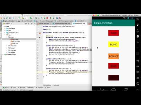 Android Studio Animation: Fade, Slide, Blink, Bounce, and Move