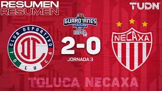 Resumen y goles | Toluca 2-0 Necaxa | Torneo Guard1anes 2021 BBVA MX - J3 | TUDN