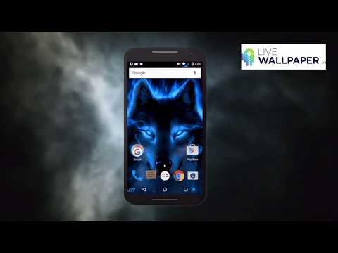 Glowing wolf live wallpaper for android is a cool looking app and people love it! It shows a fantasy wolf covered with a blue fire.