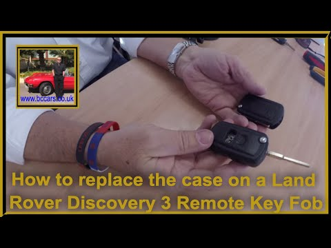 How to replace the case on a Land Rover Discovery 3 Remote Key Fob