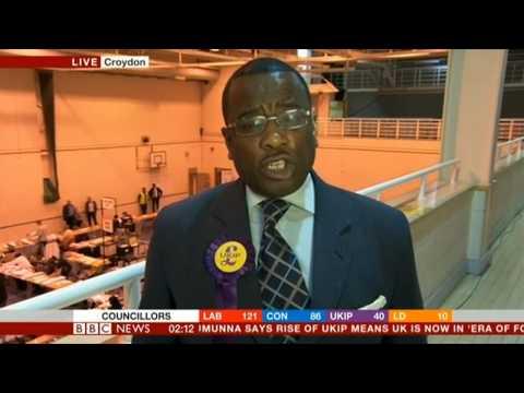 Winston McKenzie (UKIP) BBC interview - Euro elections 2014