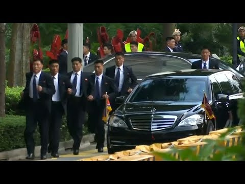 Kim Jong Un departs for meeting with Singapore