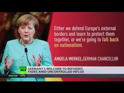 Merkel warns EU could 'fall back into nationalism' unless it protects its borders