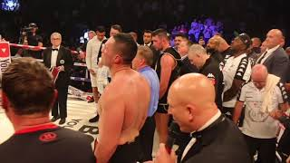 JOSEPH PARKER SEEMS TO BE DEFLATED MOMENTS AFTER SCORECARDS ARE READ OUT BEFORE WINNER ANNOUNCED