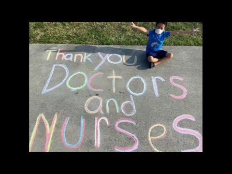 Floranada Elementary School students thank health care workers