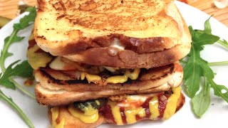 TRIPLE CHEESE TOASTIE DOUBLE BEEF CHEESE BURGER - Gregs Kitchen