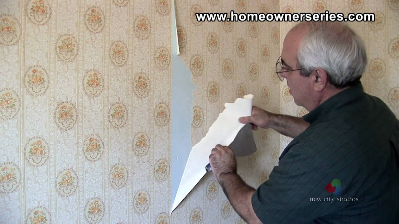 How to Fix Drywall - Removing Wall Paper - Drywall Repair - YouTube