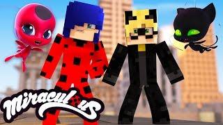 Minecraft: MIRACULOUS AS AVENTURAS DE LADYBUG - A ORIGEM DO CASAL LADYBUG E CAT NOIR!(NOVA SÉRIE)